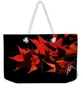 Leaves Of Red Weekender Tote Bag