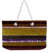 Lined Up Weekender Tote Bag