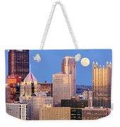 Moon Over Pittsburgh 2 Weekender Tote Bag by Emmanuel Panagiotakis