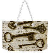 Old Keys On Letter Weekender Tote Bag by Garry Gay