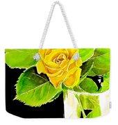 Rose In Vase Weekender Tote Bag
