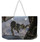 Sailors Jump Out Of A C2-a Greyhound Weekender Tote Bag