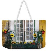 Sunflower Balcony Weekender Tote Bag