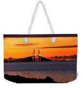 Sunset Over The Skyway Bridge Weekender Tote Bag