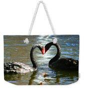 Swan Heart  Weekender Tote Bag