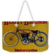 Vintage Harley Davidson Weekender Tote Bag