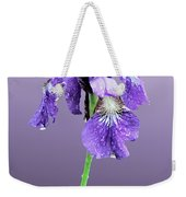 Wet Russian Iris Weekender Tote Bag