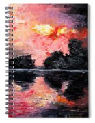 Sunset. After Storm. Spiral Notebook