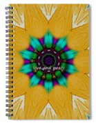 Love And Peace Art Spiral Notebook