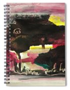 Abstract Twilight Landscape71 Spiral Notebook
