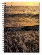 Cruise Ship Off The Beach Spiral Notebook