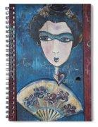 Geisha Love Triptych Spiral Notebook