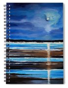 Midnight At The Beach Spiral Notebook