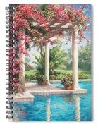 Poolside Garden Spiral Notebook