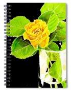 Rose In Vase Spiral Notebook