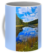 Early Autumn At Fly Pond - Old Forge Ny Coffee Mug by David Patterson