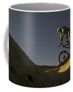 A Caucasian Man Mountain Biking Coffee Mug by Bobby Model