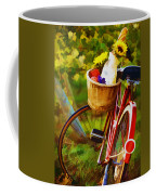 A Loaf Of Bread A Jug Of Wine And A Bike Coffee Mug by Elaine Plesser