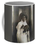 A Young Kenyan Woman Holds Her Pet Deer Coffee Mug by Underwood And Underwood