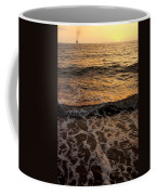 Cruise Ship Off The Beach Coffee Mug