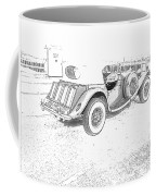 Drawing The Antique Car Coffee Mug