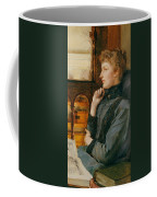 Far Away Thoughts Coffee Mug by Sir Lawrence Alma-Tadema