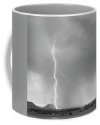 Lightning Strike Colorado Rocky Mountain Foothills Bw Coffee Mug