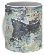Original Lobster Boat Painting Coffee Mug