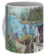 Original Modern Abstract Maine Landscape Painting Coffee Mug