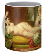 Reclining Odalisque Coffee Mug by Theodore Chasseriau