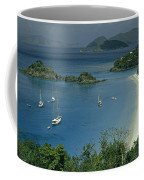 Sailing Yachts Anchor Off Of A Pristine Coffee Mug by James L. Stanfield