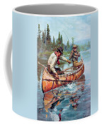 Two Fishermen In Canoe Coffee Mug