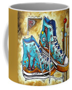 Whimsical Shoes By Madart Coffee Mug by Megan Duncanson