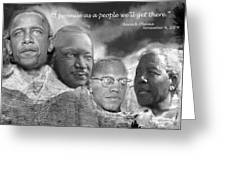 Black Rushmore Grayscale Greeting Card