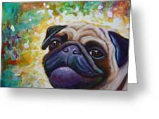 A Pugs World Greeting Card