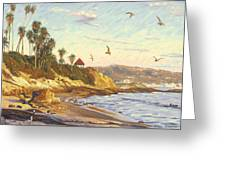 Heisler Park Rockpile At Twilight Greeting Card