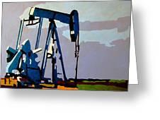Oil Pump Greeting Card