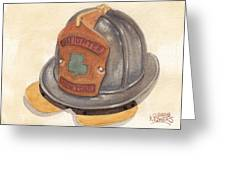 Proud To Be Irish Fire Helmet Greeting Card
