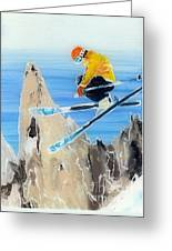 Skiing At Flegere Greeting Card