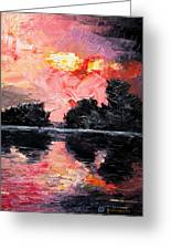 Sunset. After Storm. Greeting Card