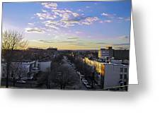 Sunset Row Homes Greeting Card