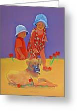 The Boxer Puppy Greeting Card