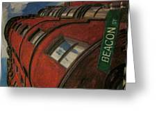 Beacon St Greeting Card by David Poyant