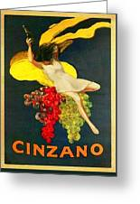 Cinzano Girl Greeting Card