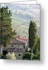 Tuscan Farmhouse At Villa Vignamaggio Greeting Card