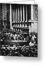 Wall Street Crash 1929 Greeting Card