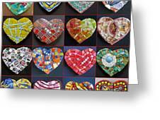 16 Hearts Greeting Card