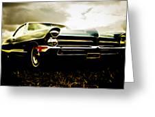 1965 Pontiac Bonneville Greeting Card by Phil 'motography' Clark