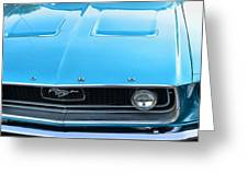 1968 Mustang Fastback Hood Greeting Card