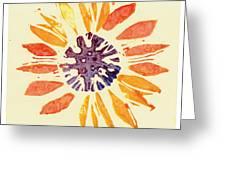 60's Sunflower Greeting Card by Annie Alexander